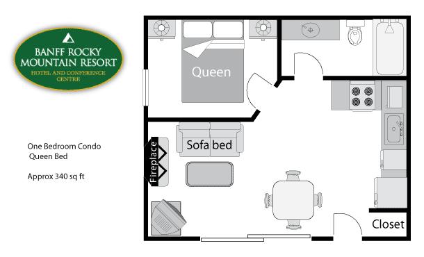 One Bedroom Condo - Floor plan