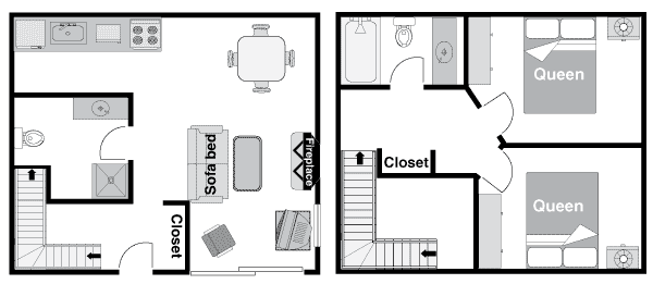 Two Bedroom Condo Floor Plan