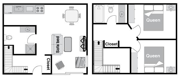 Two Bedroom Condo Floor Plan