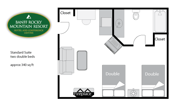Junior Suite Floor Plan Doubles
