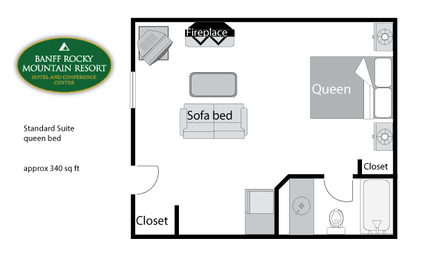 Junior Suite Floor Plan Queen