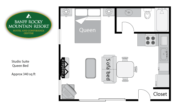 Studio Condo floor plan