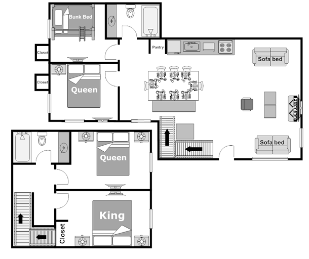 Floor Plan 4 Bedroom Wolf Condo