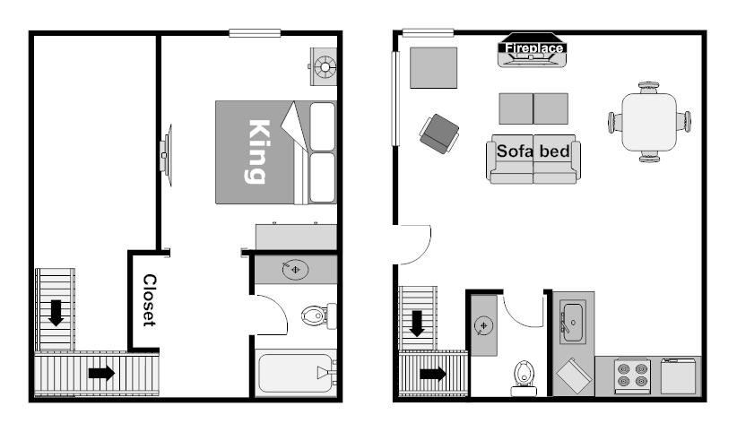 Floor Plan Wolf Loft Condo