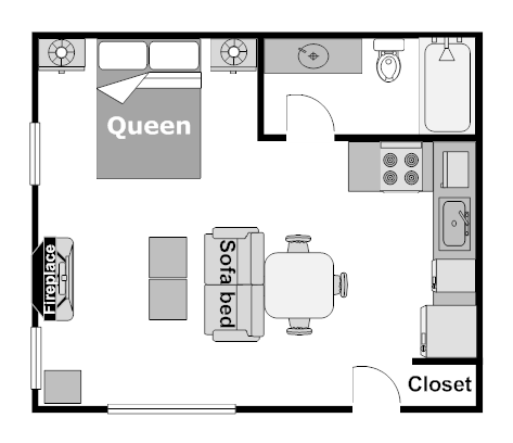 Studio Wolf Condo - Floor Plan