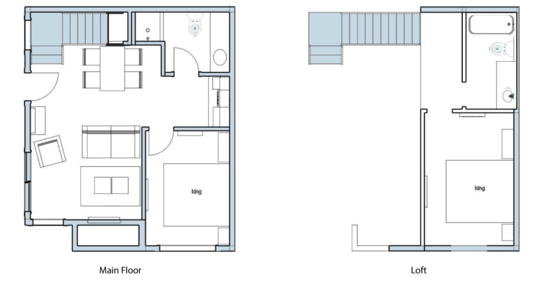 Superior Two Bedroom Suite Floor Plan