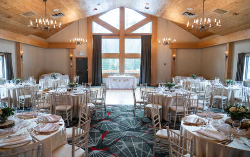 Grey Wolf Room with Round Tables